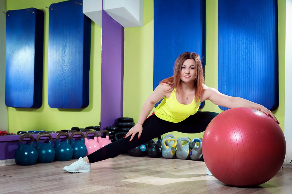 Sesja zdjęciowa trenerki fitness